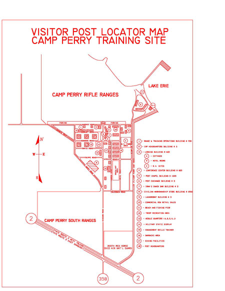 Camp Perry Visitor's Map